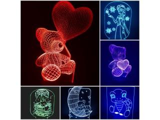 Verschiedene Motive LED-Dekoleuchte sehr Dekorativ mit Farbwechsel in 7 Farben