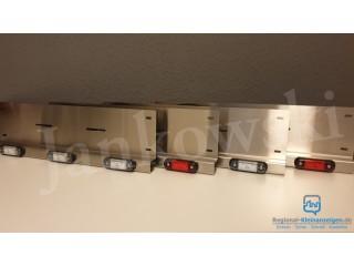 Kennzeichenhalter Aus Edelstahl Mit LED-Leuchten 12/24 V Systeme.