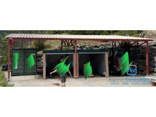 Flugdach Carport Überdachung 6 x 12 Meter