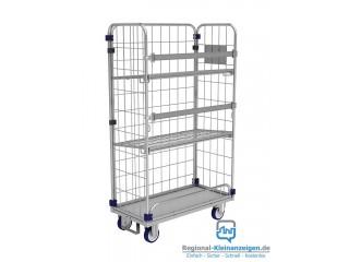 Gitter- Rollcontainer KM für Wäschelogistik in Krankenhäusern.