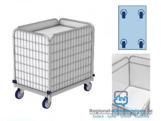 Rollwagen mit Federboden, Wäschewagen (Transportwagen) für Wäschelogistik. 275 Liter, 41 kg. Modell ML 8661-0.9